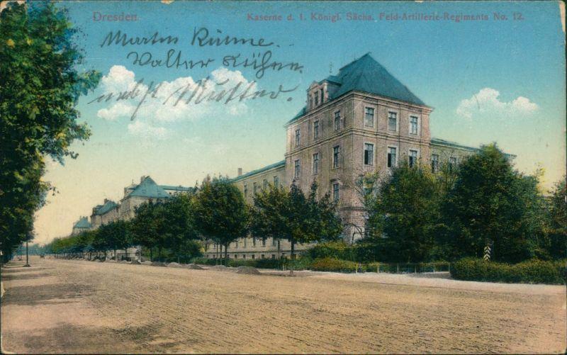 Albertstadt-Dresden Kaserne - Feld-Artillerie-Regiment No. 12 1915