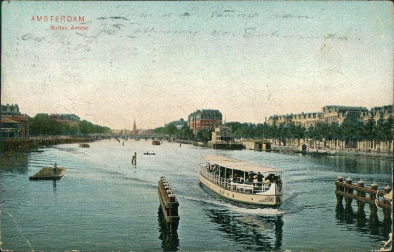 Postkaart Amsterdam Amsterdam Buiten Amstel 1906