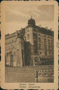 Postcard Krakau Kraków Königsschloss/Wawal 1918
