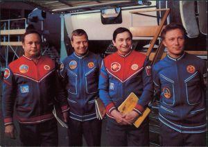 Fliegerkosmonauten S. Jähn, W. Bykowski, E. Köllner u. V. Gorbatko 1978