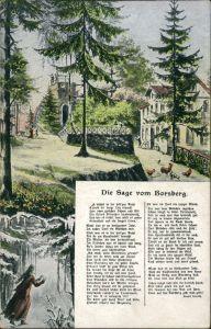 Schönfeld - Weißig-Dresden Die Sage vom Borsberg - Künstlerkarte 1918