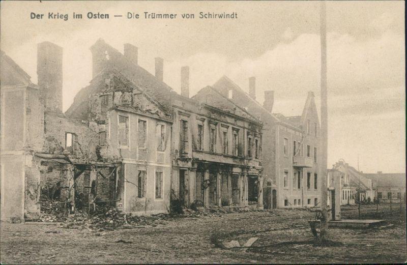 Schirwindt Kutusowo (Szyrwinta/Širvinta/Кутузово) zerstörte Straße 1. WK 1917
