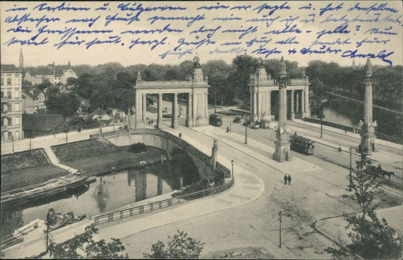 Charlottenburg-Berlin Straßenpartie, Charlottenburger Brücke 1913