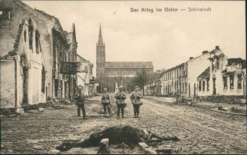 Schirwindt Kutusowo (Szyrwinta/Širvinta/Кутузово Der Krieg im Osten Kirche 1919