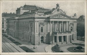 Postcard Brünn Brno Partie am Stadttheater 1944