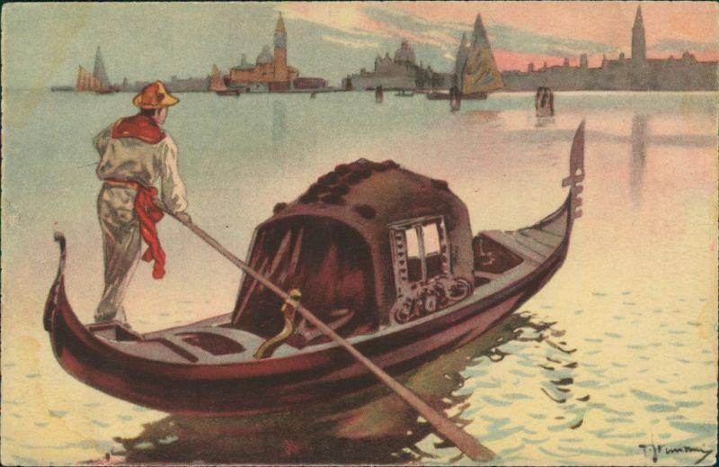 Cartoline Venedig Venezia La Fondola 1934