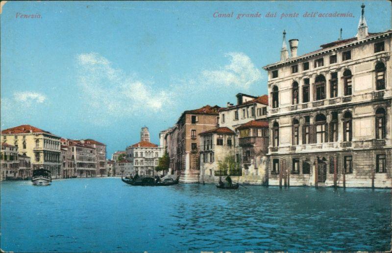 Cartoline Venedig Venezia Canal Grande dal ponte dell'accademia 1918