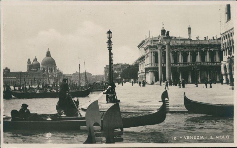 Cartoline Venedig Venezia Il Molo 1930