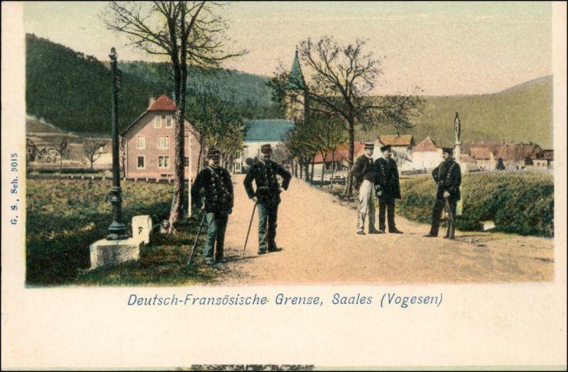 CPA Saal Saales Grenzer  Deutsch-französischen Grenze Mutzig Molsheim 1909