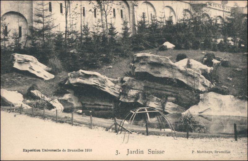 Postkaart Brüssel Bruxelles Jardin Suisse - EXPO 1910 Nr. 125718 ...