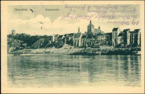 Graudenz Grudziądz Blick auf die Stadt - Weichselseite 1915