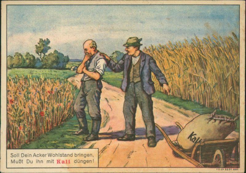 Ansichtskarte  Werbekarte Landwirtschaft Kali Düngung 1928