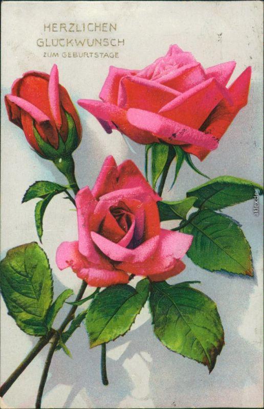 Ansichtskarte Geburtstag Rosen 1930 Nr 126059 Oldthing