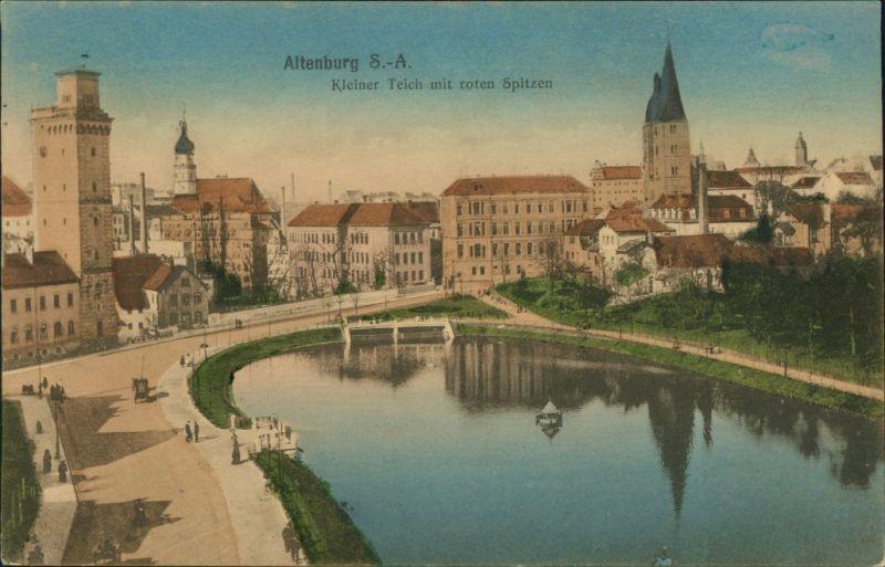 Ansichtskarte altenburg kleiner teich mit roten spitzen for Kleiner teich