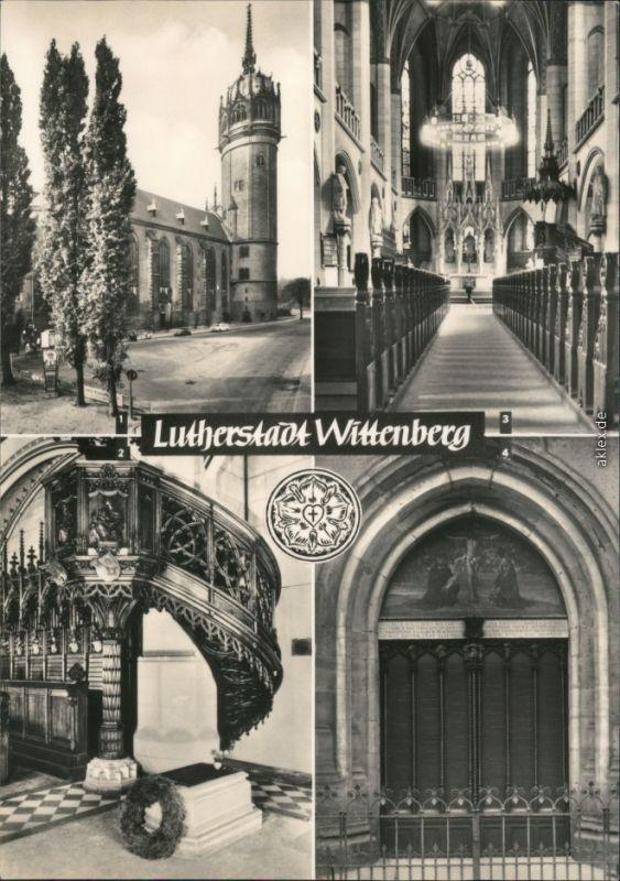 Lutherstadt Wittenberg Evangelische Schloßkirche, Luthers Grab, Thesentür 1973