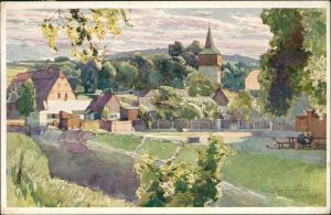 Postcard Hronow Hronov Künstlerkarte von Jaroslav Šetelík 1935