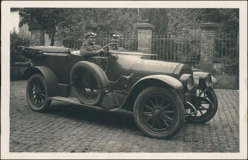 Foto  Soldaten im Auto Res. Fernsprechabteilung 15 1916 Privatfoto