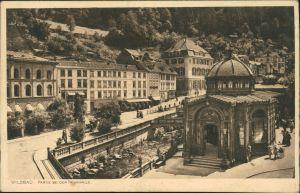 Ansichtskarte Bad Wildbad Partie bei der Trinkhalle 1913