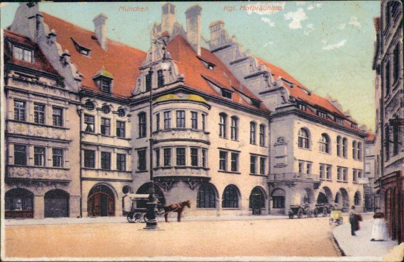 Ansichtskarte München Kgl. Hofbräuhaus 1908