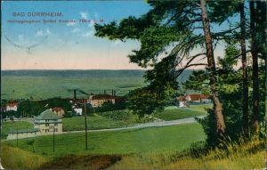 Ansichtskarte Bad Dürrheim Blick auf den Ort Fabrikanlage 1912