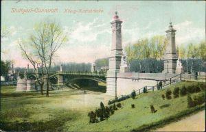 Ansichtskarte Cannstatt-Stuttgart König Karl - Brücke 1906