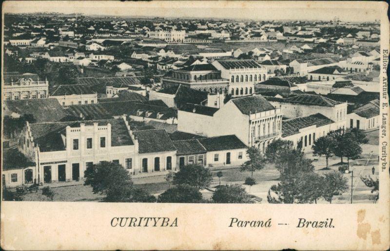 Postcard Curitiba Blick auf die Stadt 1912