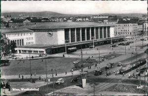 Ansichtskarte Wien Partie am Westbahnhof 1965