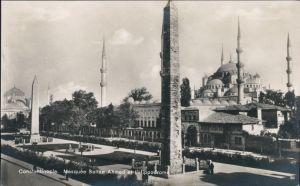 Istanbul Konstantinopel Constantinople Moschee   Ahmed, Straße Hippodrom 1922