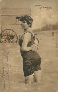 Postkaart Ostende Oostende Type de Baigneuse - Strand 1916