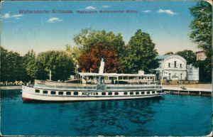 Woltersdorf Dampfer Neptun Woltersdorfer Schleuse - Restaurant 1916