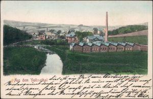 Ansichtskarte Oberbrügge-Halver Fabrikanlage - Stadt 1912