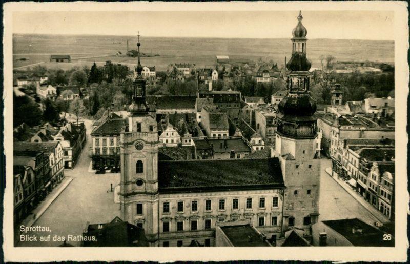 Postcard Sprottau Szprotawa Rathaus 1940