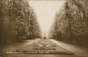 Postcard Olmütz Olomouc Smetanovy sady 1926