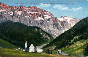 Gröden (Südtirol) Val Gardena Dorfpartie - Sta Maria Wolkenstein 1910