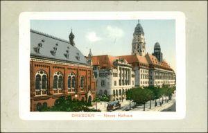Innere Altstadt-Dresden Straßenpartie Neues Rathaus Parcepartout 1917