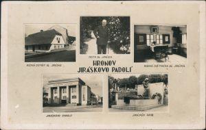 Postcard Hronow Hronov Jiráskovo Padolí/Mehrbild 1932