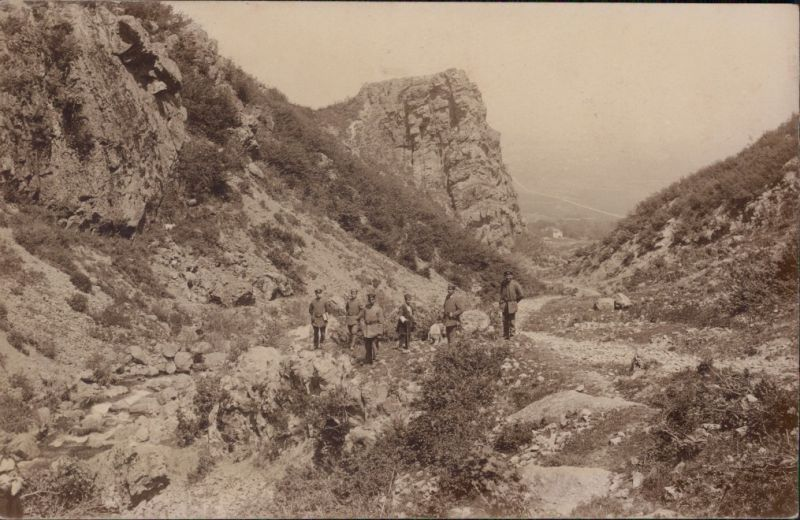 Foto  Soldaten im Gebirge WK1 Militaria 1916 Privatfoto
