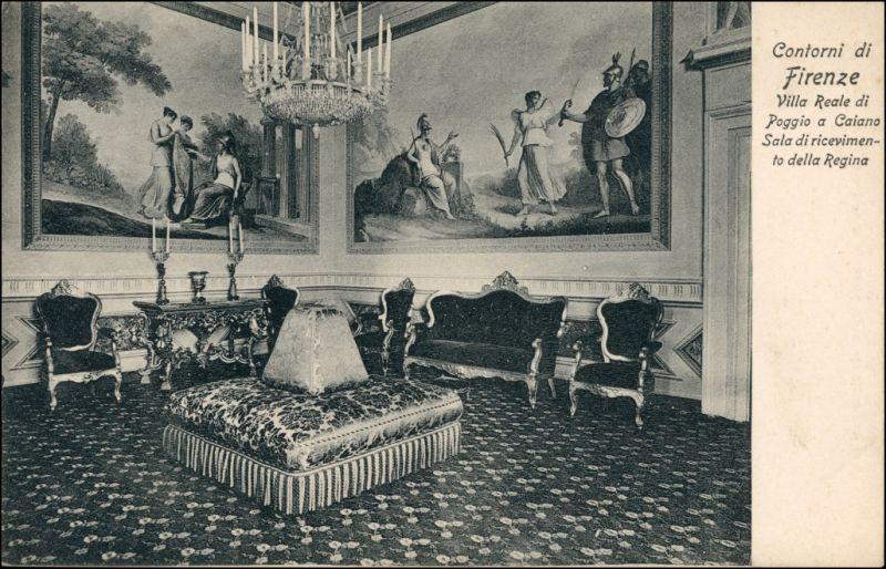 Cartoline Florenz Firenze Innenansicht Contorni Villa Reale 1908