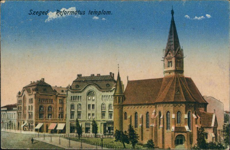 Postcard Szegedin Szeged | Сегедин Református templom. 1922