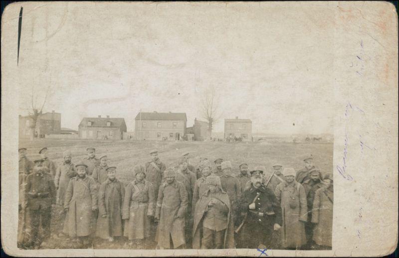 Ansichtskarte  Kriegsgefangene Franzosen in Frankreich 1917