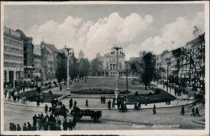 Postcard Posen Poznań Partie am Wilhelmplatz 1935