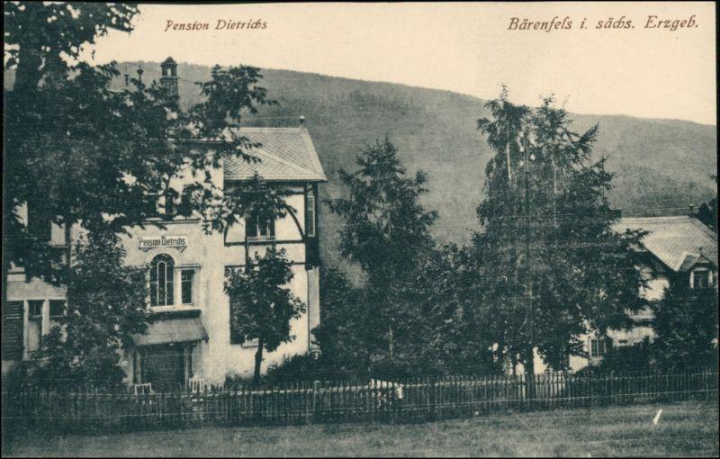 Bärenfels (Erzgebirge)-Altenberg (Erzgebirge) Pension Dietrichs 1913