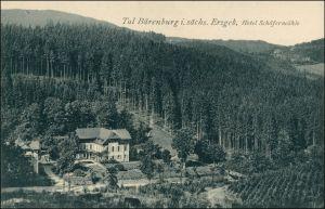 Ansichtskarte Oberbärenburg-Altenberg (Erzgebirge) Hotel Schäfermühle 1913