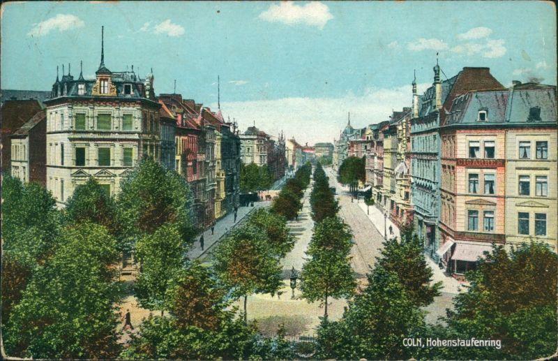 Ansichtskarte Koln Partie Am Hohenstaufenring 1914 Nr 129196