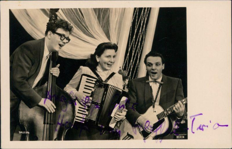 Musiker Trio Fernsehzentrum Berlin, Akordion, Gitarre, Kontrabass 1965