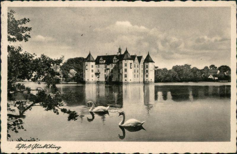 Glücksburg (Ostsee) Lyksborg Partie am Schloss Glücksburg 1942