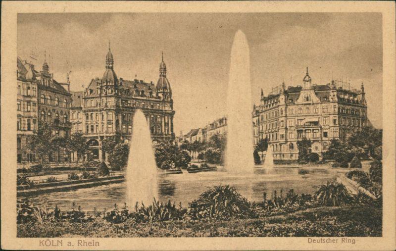 Ansichtskarte Köln Deutscher Ring 1928