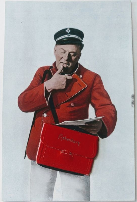 Kopenhagen København Briefträger mit Leporello in der Tasche 1931