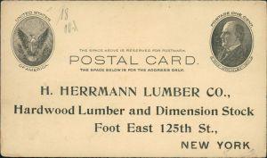 New York City H. Herrmann Lumber Co., Hardwood Lumber Dimension Stock 1910
