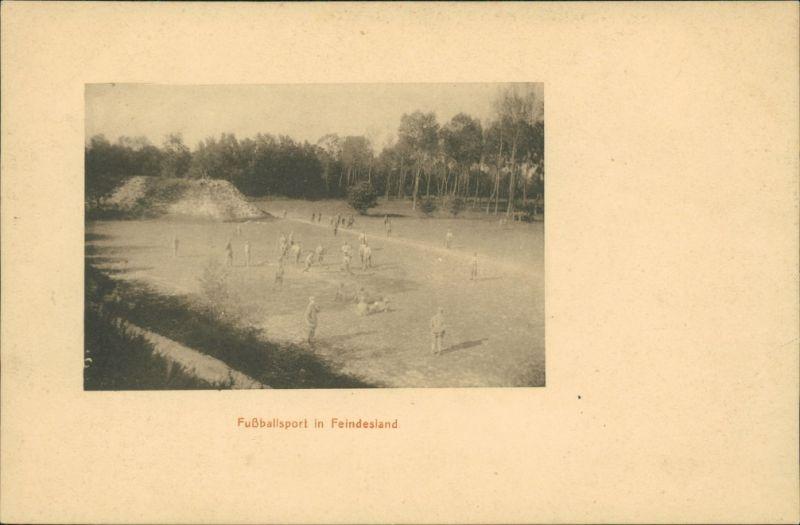 Ansichtskarte  Fußballsport im Feindesland - WK1 1917